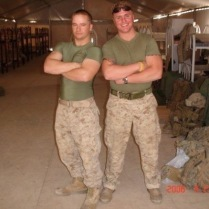 Kevin Hennessey, pictured left, in Iraq 2006.